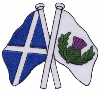 Scotland & Scotland Thistle Friendship Embroidered Patch A179